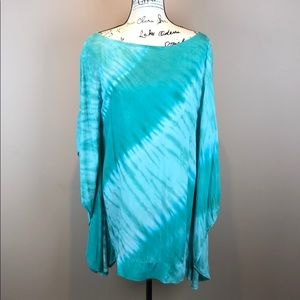 e3ce7fc3bf ... Indah Leah Wing & Band Tunic Coverup Blue Mirage ...